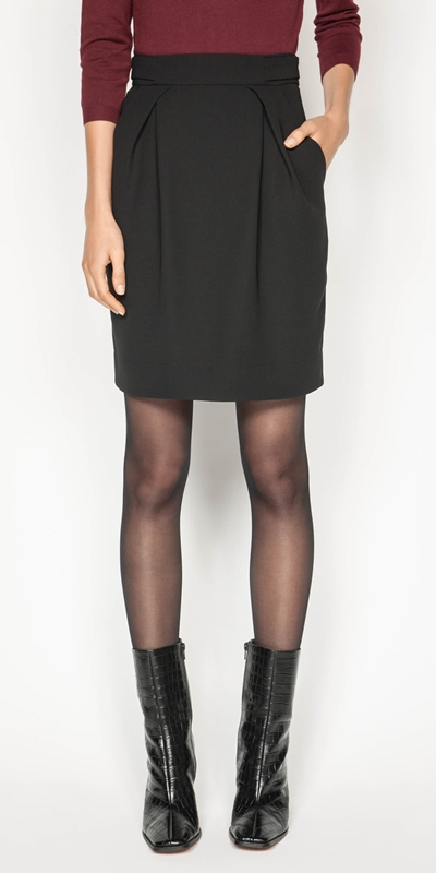 Sale  | Tuck Front Tulip Skirt