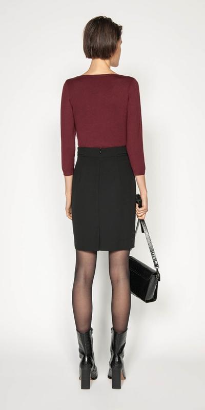 Skirts | Tuck Front Tulip Skirt