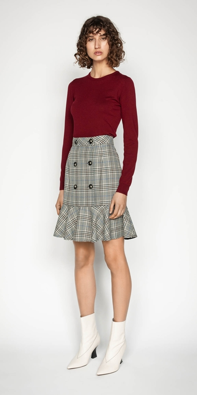 Wear to Work | Button Front Fluted Skirt