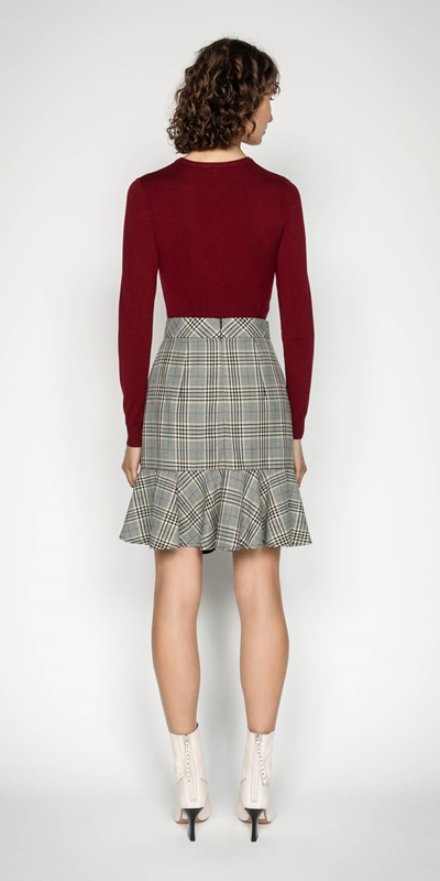 Skirts | Button Front Fluted Skirt
