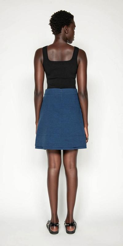 Skirts   Pinstripe Layered Mini Skirt