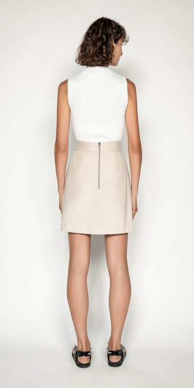 Skirts | Cotton Twill Belted Utility Mini