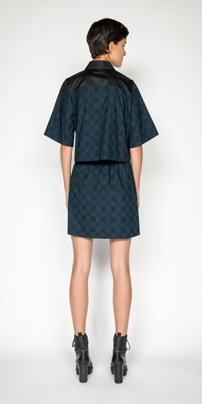 Skirts | Stitched Broderie Skirt