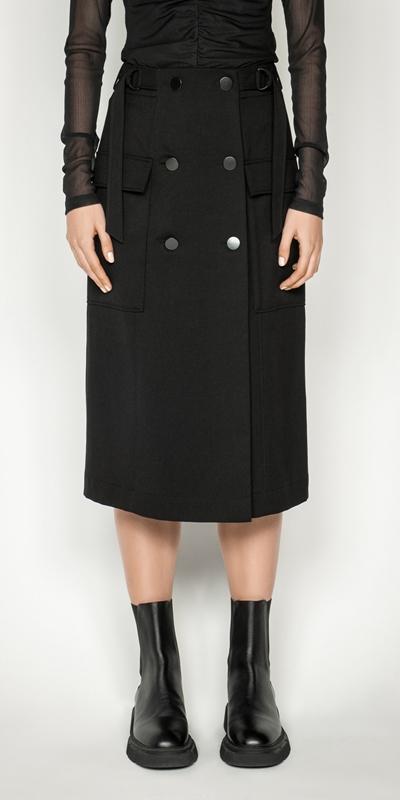 Cue Cares - Sustainable  | Eco Utility Midi Skirt