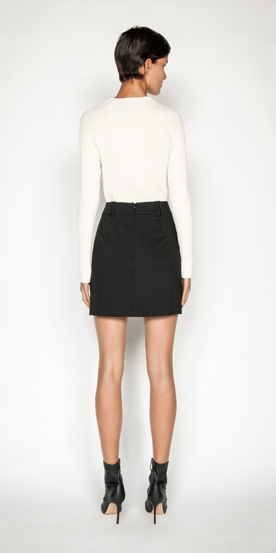 Skirts | Wool Mini Skirt