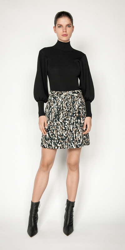 Cue Cares - Sustainable | Leopard Mini Skirt