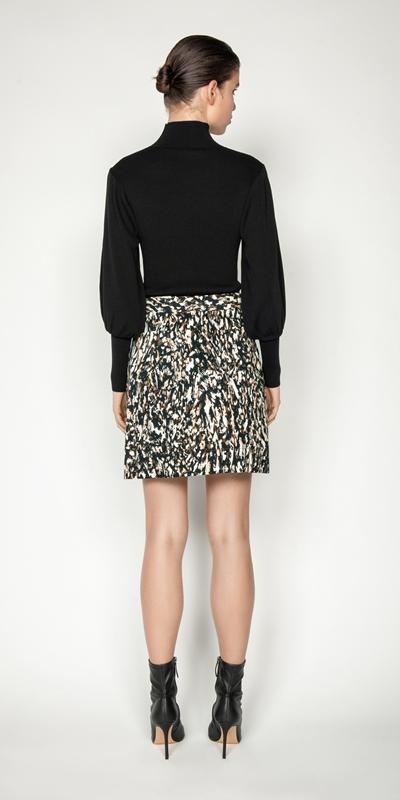 Skirts   Leopard Mini Skirt