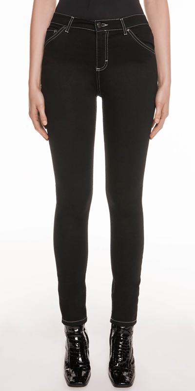 Pants | Mid Rise Waist Skinny Leg Jean