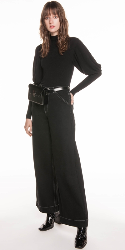 Pants | High Waist Wide Leg Jean