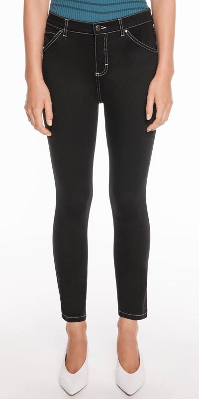 Pants  | Mid Rise Waist Crop Skinny Leg Jean