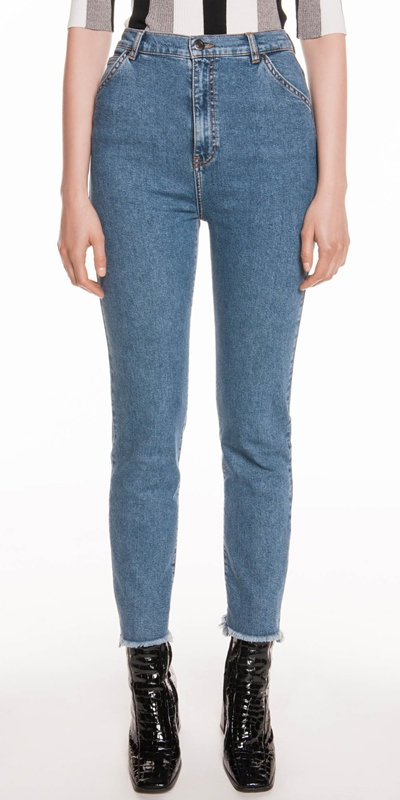Pants | High Waist Slim Leg Jean