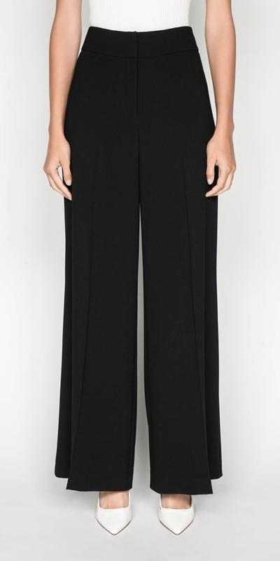 Pants | Crepe Wide Leg Pant