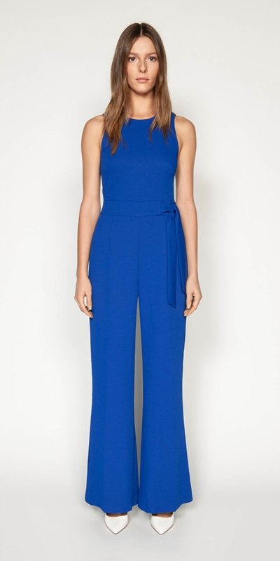 Jumpsuits | Triple Dobby Wide Leg Jumpsuit