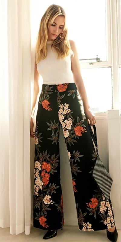 Pants | Kimono Floral Wide Leg Pant