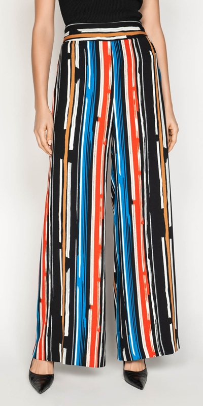 Pants  | Painted Stripe Wide Leg Pant
