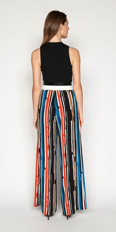 Pants | Painted Stripe Wide Leg Pant