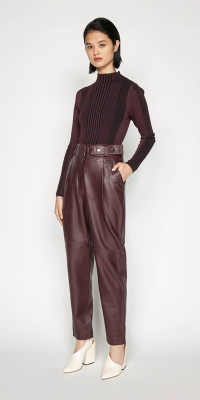 Sale | Leather Tailored Trouser