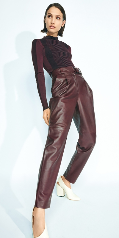 Work From Home  | Leather Tailored Trouser
