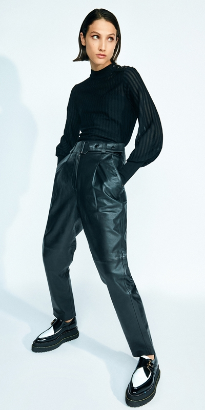 Wear to Work  | Leather Tailored Trouser