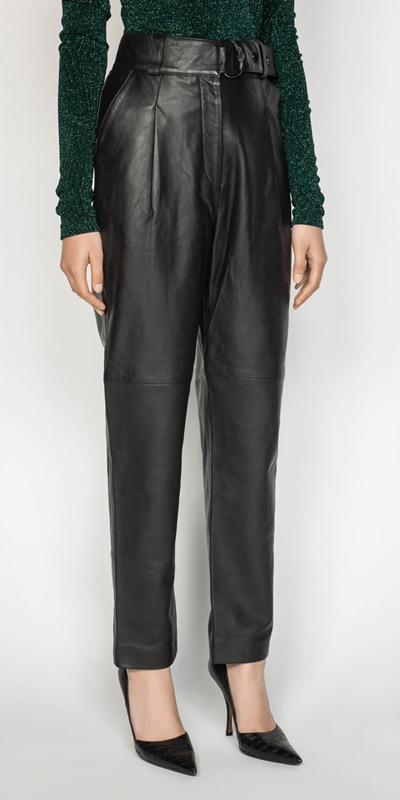 Pants | Leather Tailored Trouser