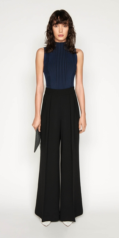 Pants | Crepe Tuck Front Pant