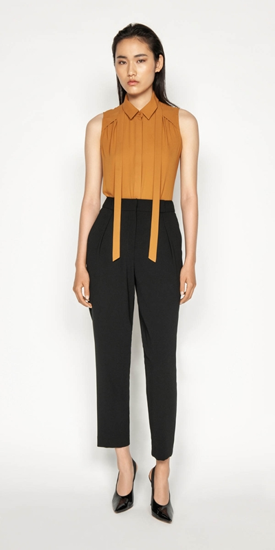 Wear to Work | Crepe Slim Leg Pant