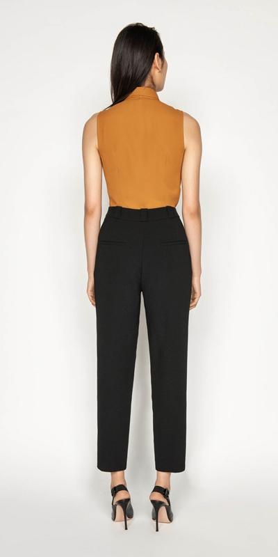 Pants | Crepe Slim Leg Pant