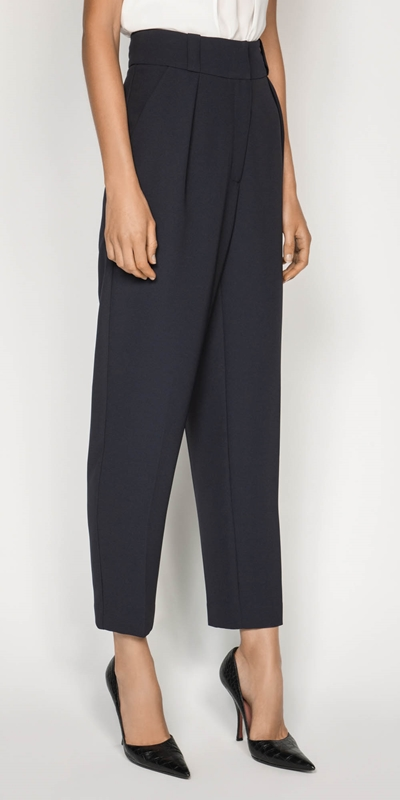 Sale  | Crepe Tapered Trouser
