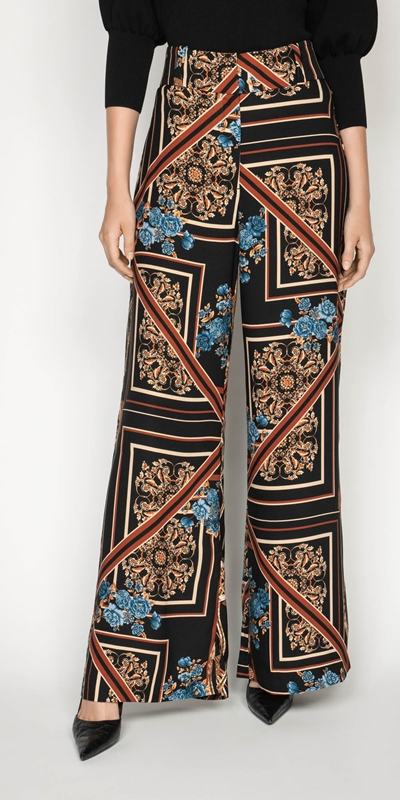 Pants | Blue Rose Wide Leg Pant