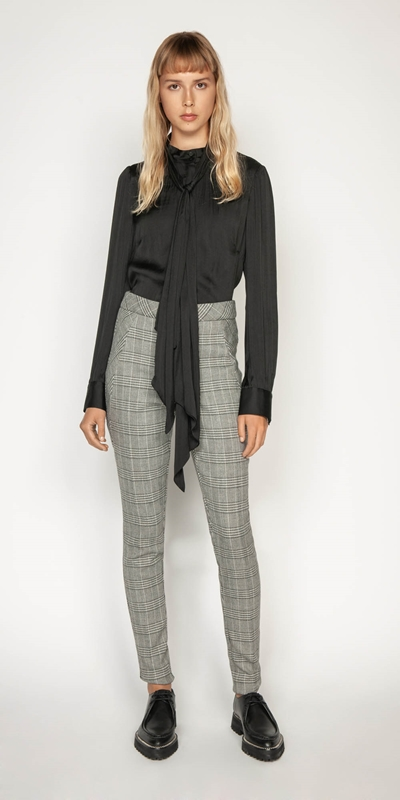 Wear to Work | Prince of Wales Cigarette Pant