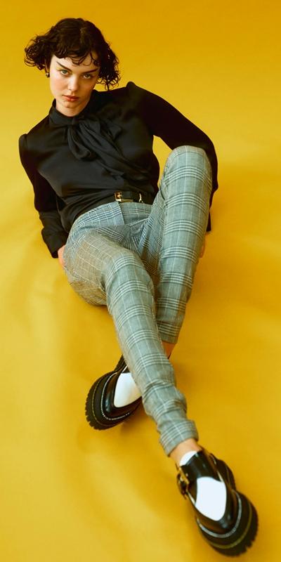 Pants  | Prince of Wales Cigarette Pant