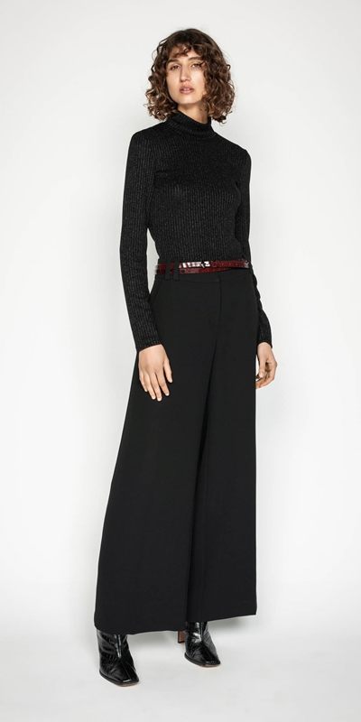 Sale | Double Belt Loop Wide Leg Pant
