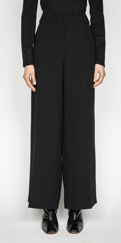 Pants | Double Belt Loop Wide Leg Pant
