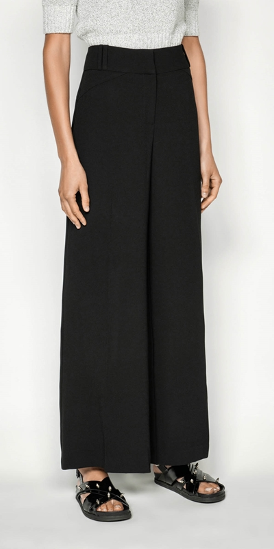 Pants  | Crepe Wide Leg Pant
