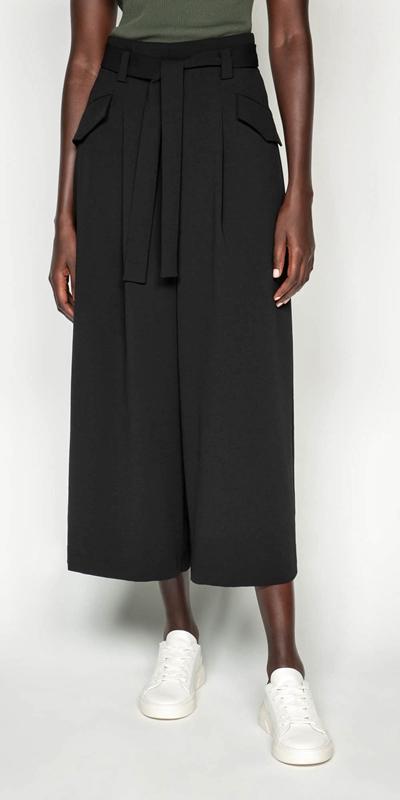Pants  | Tie Waist Wide Leg Pant