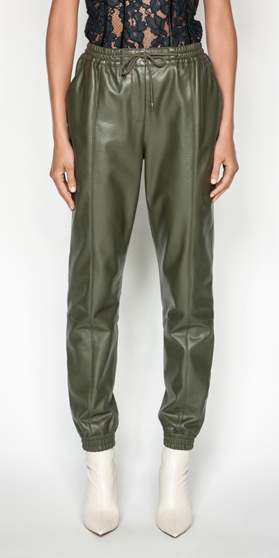 Pants | Leather Track Pant