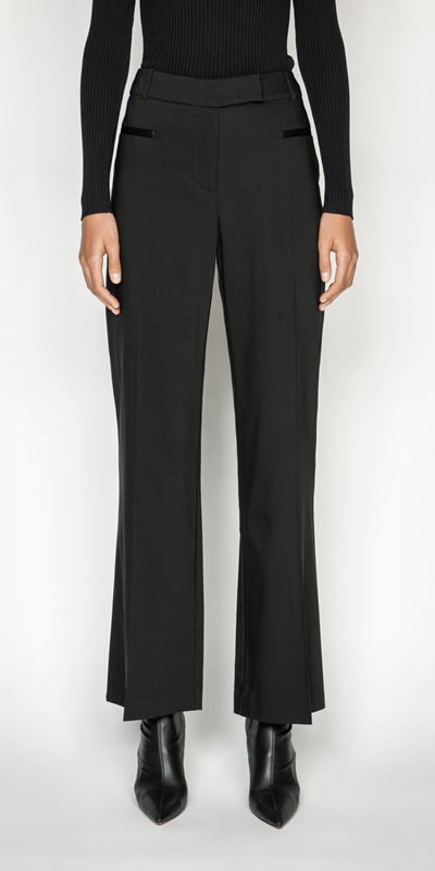 Cue Cares - Sustainable  | Wool Straight Leg Trouser