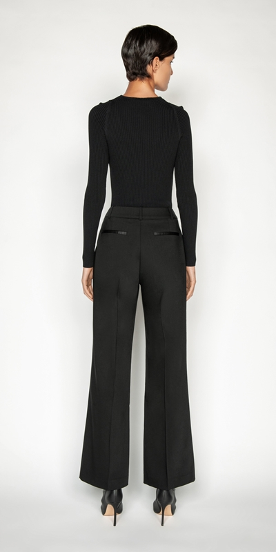 Pants | Wool Straight Leg Trouser