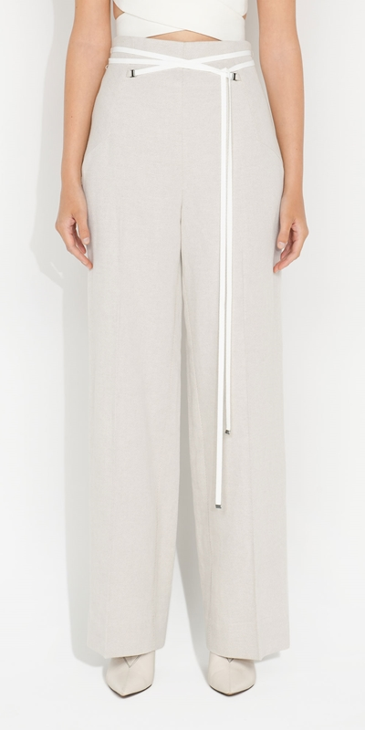S21 Campaign  | Twill Waist Tie Pant