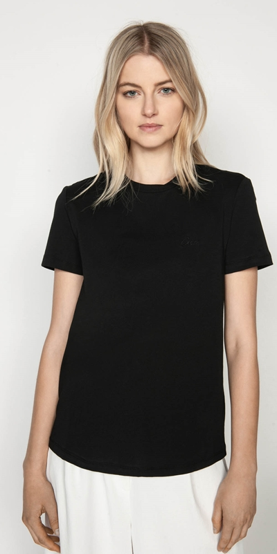 Work From Home  | Embroidered Cue Tee