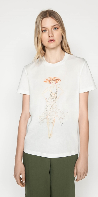 Work From Home  | Leopard Cue Tee