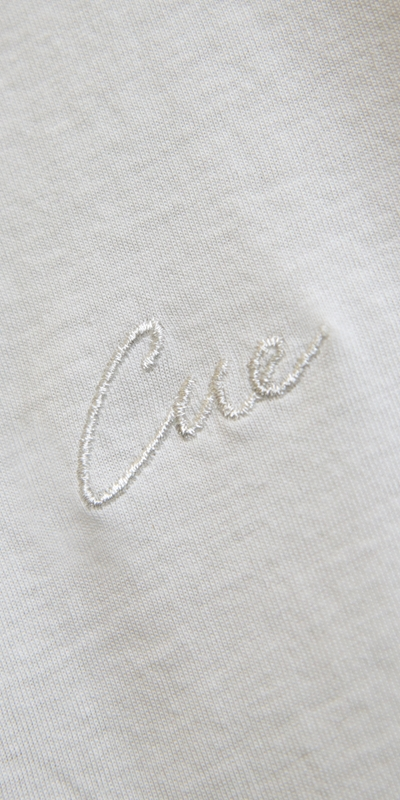 Tops   Embroidered Cue Tee