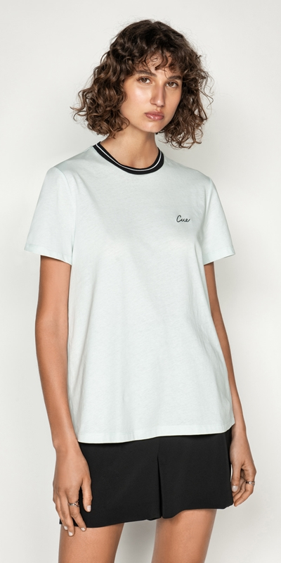 Tops  | Embroidered Cue Tee