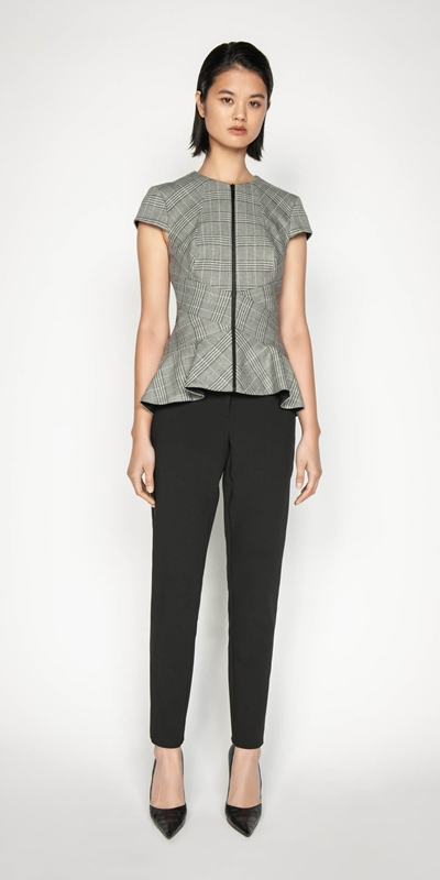 Wear to Work | Prince of Wales Peplum Top