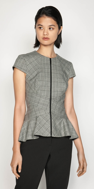 Sale  | Prince of Wales Peplum Top