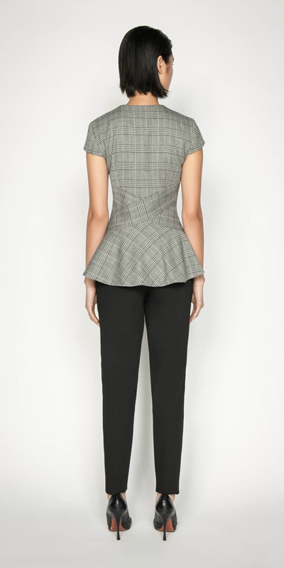 Tops | Prince of Wales Peplum Top