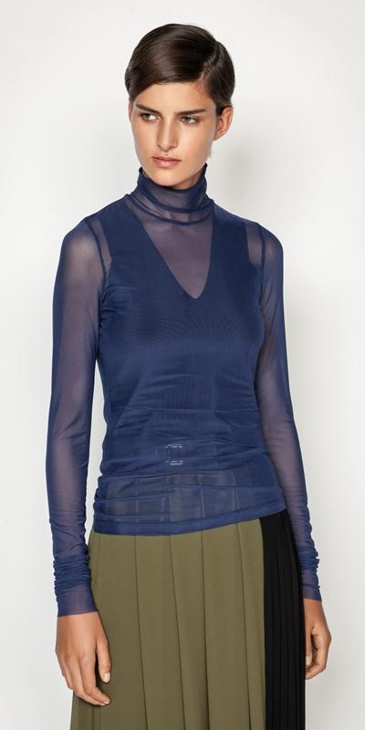 W21 Campaign  | Cobalt Mesh Body Top