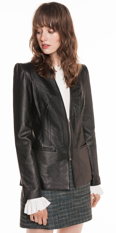 Jackets | Leather Blazer