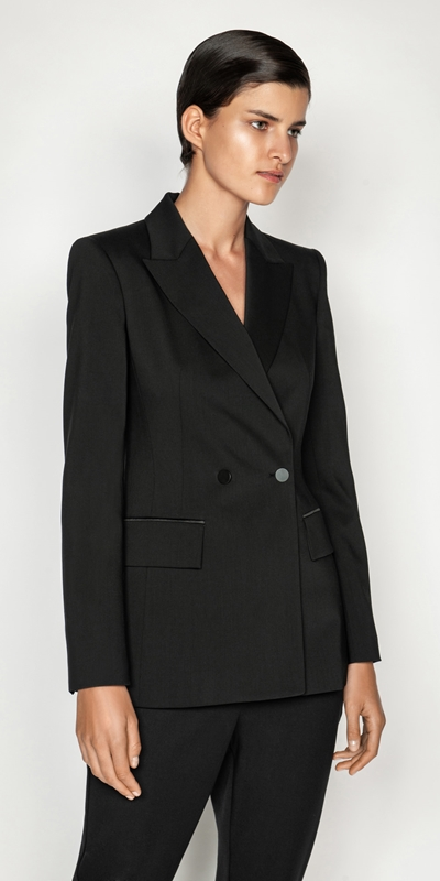 Jackets and Coats | Wool Sculpted Waist Jacket
