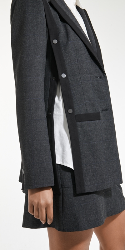 Sale  | Melange Viscose Check Blazer